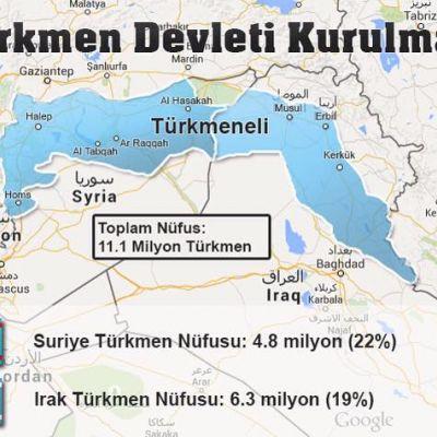 Suriyede bir Türkmen Devleti (Türkmen eli Cumhuriyeti) kurulmalıdır.