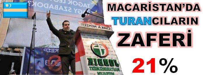 Macaristan'da Turan Türkbirliği Partisi büyük zafer kazandı.